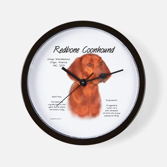 Redbone Coonhound Wall Clock