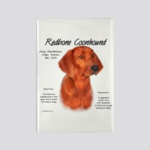 Redbone Coonhound Rectangle Magnet