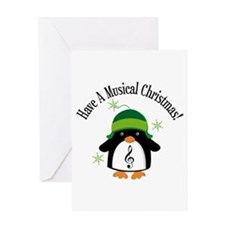 Musical Christmas Penguin Gift Greeting Card