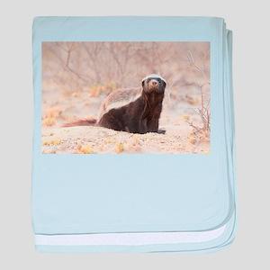Honey Badger baby blanket