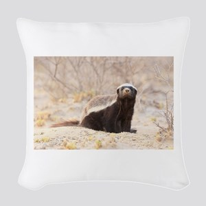 Honey Badger Woven Throw Pillow