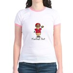 Football Nut (red) Jr. Ringer T-Shirt