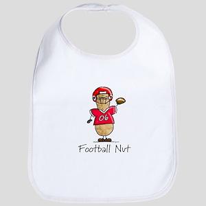 Football Nut (red) Bib