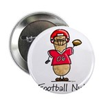 Football Nut (red) Button