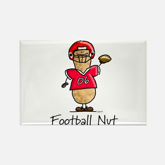 Football Nut (red) Rectangle Magnet