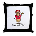 Football Nut (red) Throw Pillow