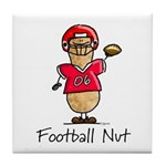 Football Nut (red) Tile Coaster