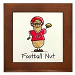 Football Nut (red) Framed Tile