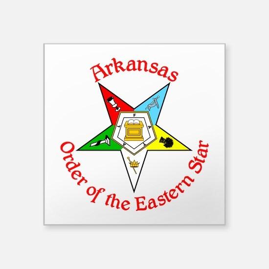 "Arkansas Eastern Star Square Sticker 3"" x 3&q"