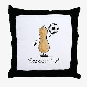 Soccer Nut Throw Pillow