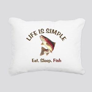 Life is Simple Rectangular Canvas Pillow