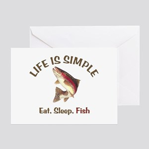 Life is Simple Greeting Card