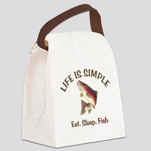 Life is Simple Canvas Lunch Bag