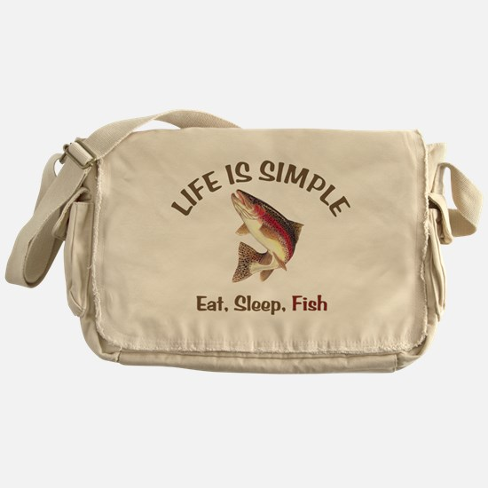 Life is Simple Messenger Bag