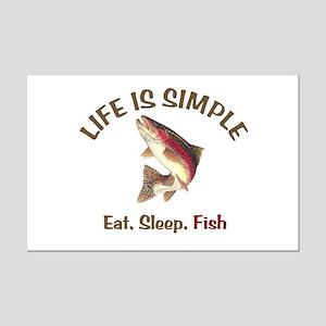 Life is Simple Mini Poster Print