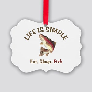Life is Simple Picture Ornament