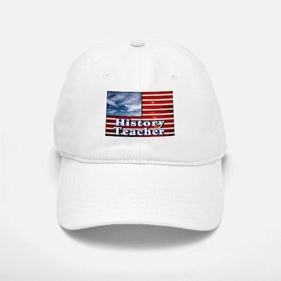 """""""History Teacher Flag"""" Baseball Baseball Cap"""