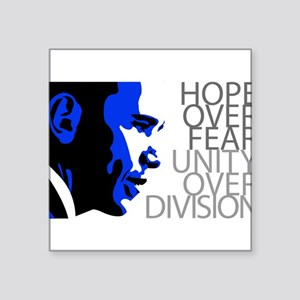 Obama - Hope Over Division - Blue Sticker