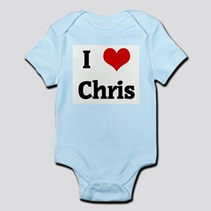 I Love Chris Infant Creeper