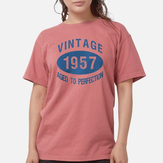 1957 Vintage Birthday Womens Comfort Colors Shirt