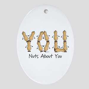 Nuts About You Peanuts Oval Ornament
