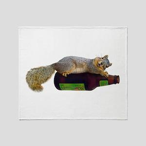 Squirrel Empty Bottle Throw Blanket