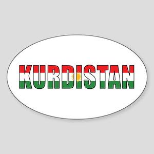 Kurdistan Oval Sticker
