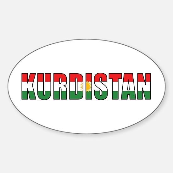 Kurdistan Oval Decal