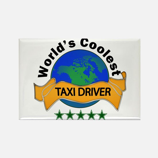 Cute Taxi cab Rectangle Magnet