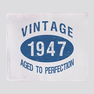 1947 Vintage Birthday Throw Blanket