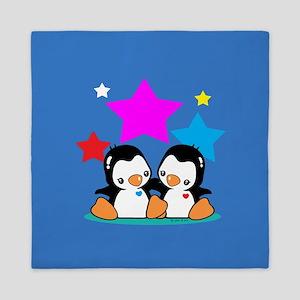 Cute Penguins Queen Duvet