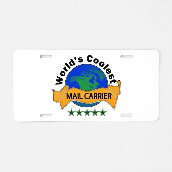 Cute Mailman Aluminum License Plate