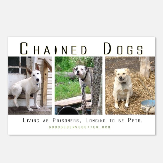 3 Chained Dogs: Longing to be Postcards (Package o