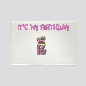 16th Birthday Rectangle Magnet