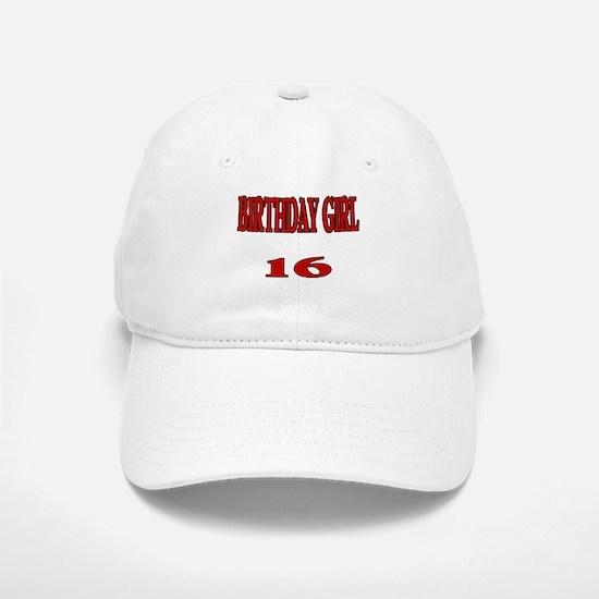 Birthday Girl 16 Baseball Baseball Cap