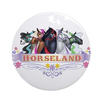 Horseland T Ornament (Round)