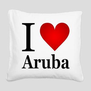 ilovearuba Square Canvas Pillow