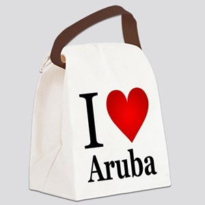 ilovearuba Canvas Lunch Bag