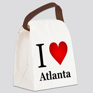 I Love Atlanta Canvas Lunch Bag