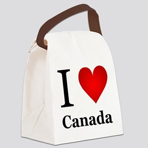 I Love Canada Canvas Lunch Bag