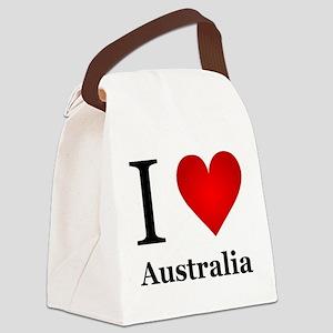 I Love Australia Canvas Lunch Bag