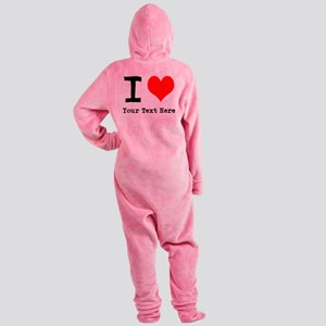 I Heart (personalized) Footed Pajamas