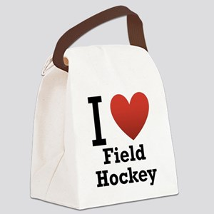 i-love-field-Hockey-light-tee Canvas Lunch Bag