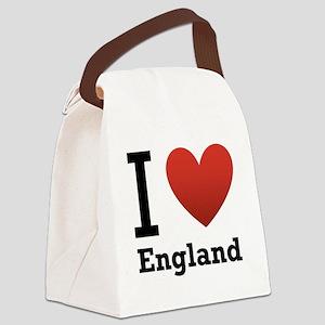 i-love-england-light-tee Canvas Lunch Bag
