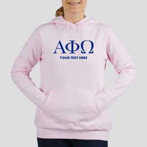 Alpha Phi Omega Letters Women's Hooded Sweatshirt