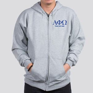 Alpha Phi Omega Letters Personalized Zip Hoodie