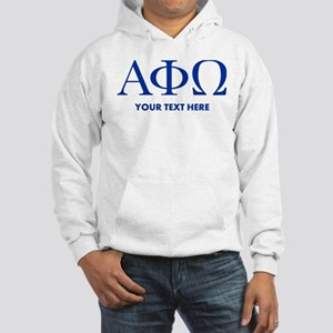 Alpha Phi Omega Letters Personal Hooded Sweatshirt