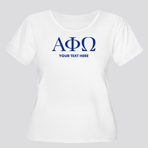 Alpha Phi Ome Women's Plus Size Scoop Neck T-Shirt
