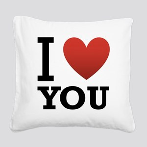 i-love-you-2 Square Canvas Pillow