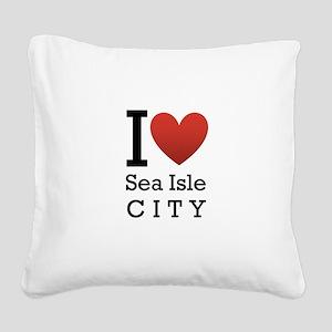 sea isle city rectangle Square Canvas Pillow